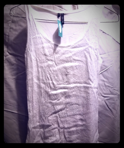 Tops - White sequin maurices thank top. Sz.M